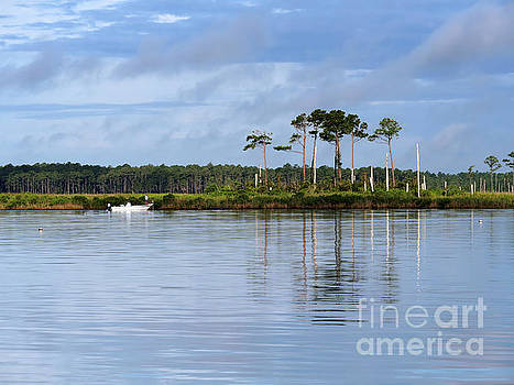 Fishing on the Alligator River in North Carolina by Louise Heusinkveld