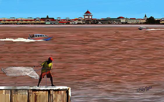 Fishing on The Demerara River by James  Mingo
