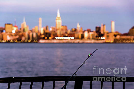 Fishing on the Hudson by Zawhaus Photography