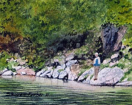 Fishing on the River by Sharon Farber