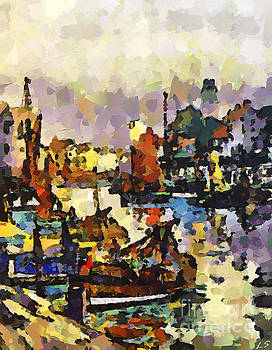 Fishing schooners on the river Witham by Sergey Lukashin