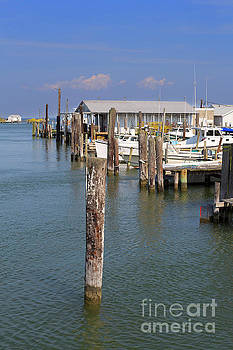 Fishing shanties and boats on Tangier Island Chesapeake Bay by Louise Heusinkveld