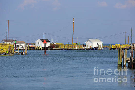 Fishing shanties and crab pots on Tangier Island Chesapeake Bay by Louise Heusinkveld