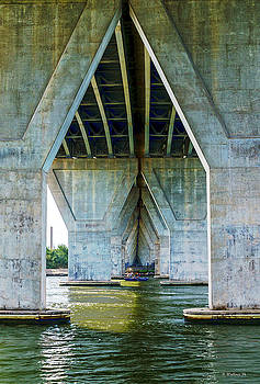 Fishing Under The Overpass by Brian Wallace