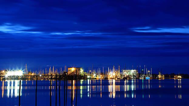 Fishing Village Blue by Robert Bynum