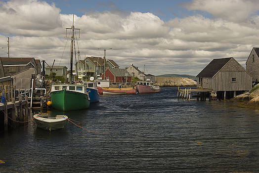Fishing Village by Cindy Rubin