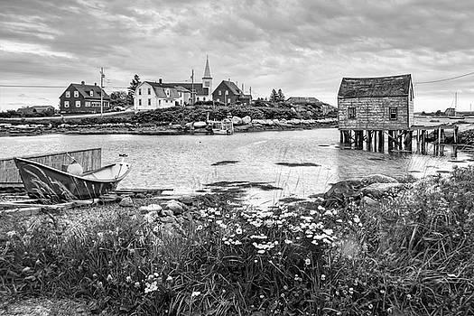 Nikolyn McDonald - Fishing Village in Black and White - Nova Scotia