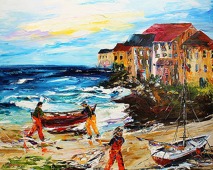 Fishing Village by Kevin Brown