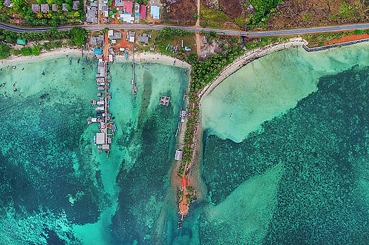 Fishing village view from above by Pradeep Raja PRINTS