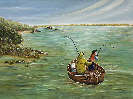 Dorothy Riley - Fishing With Grandpa