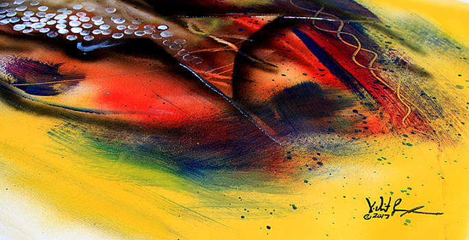 Fishtail Abstract by J Vincent Scarpace