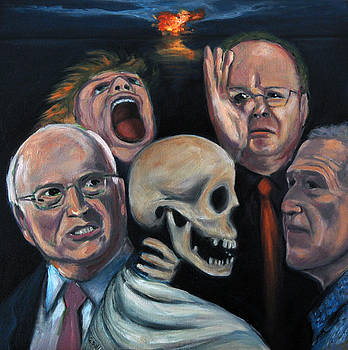 Five grotesque heads revisited by Gayle Bell