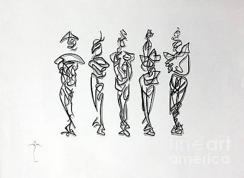 Five Muses by James Lanigan Thompson MFA