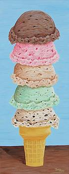 Five Scoop Ice Cream Cone by Nancy Nale