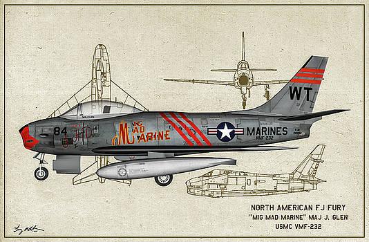FJ Fury Mig Mad Marine - Profile Art by Tommy Anderson