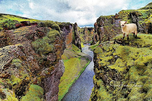 Fjadrargljufur Canyon  by Jean-Louis Delhaye