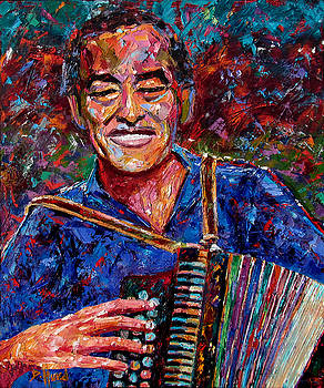 Flaco Jimenez by Debra Hurd