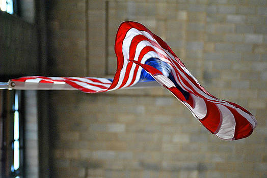 Flag at Central Terminal by Kelly E Schultz
