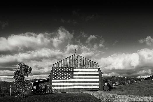 Flag Barn Williston by Dave Schmidt