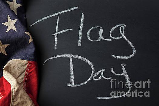 Flag Day Sign by Leslie Banks
