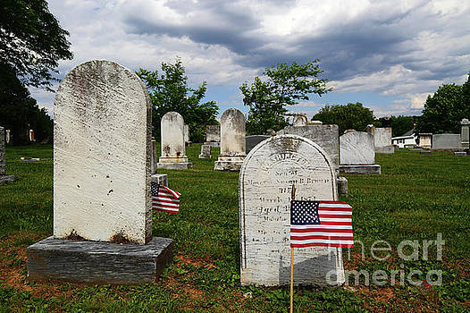 James Brunker - Flag for Memorial Day in Uniontown Cemetery Maryland
