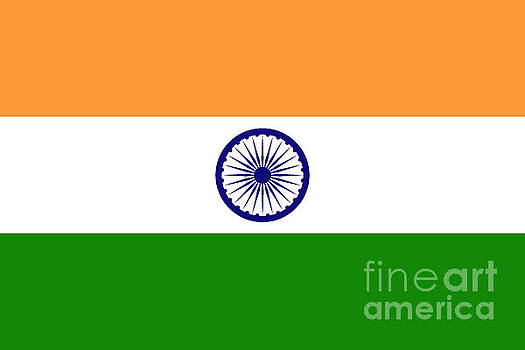 Flag of India authentic version by Bruce Stanfield