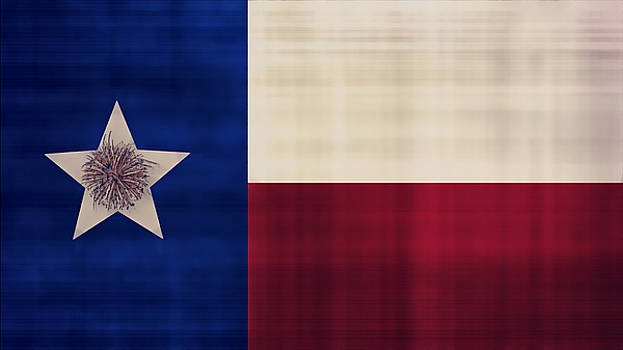 Flag of Texas by Philip A Swiderski Jr