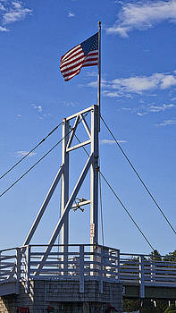 Steven Ralser - Flag on Perkins Cove Bridge - Maine
