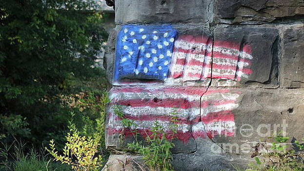 Flag on the Bricks by Erick Schmidt