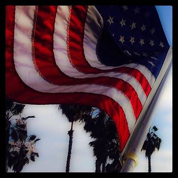 #flag #shutters #santamonica #california by Trek Kelly