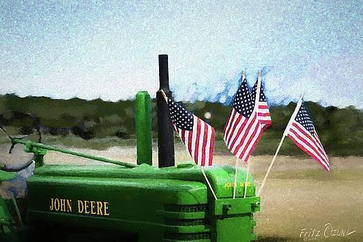 Flag Tractor  5522 by Fritz Ozuna