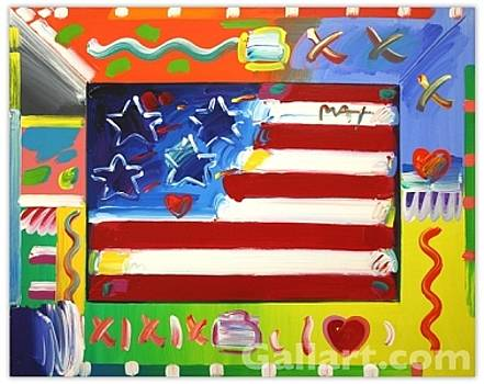 Flag With Hearts by Peter Max