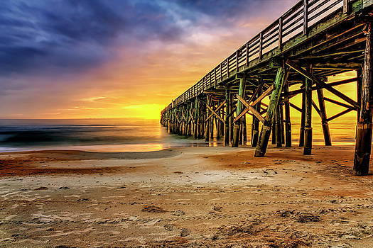 Flagler Beach Pier at Sunrise in HDR by Michael White