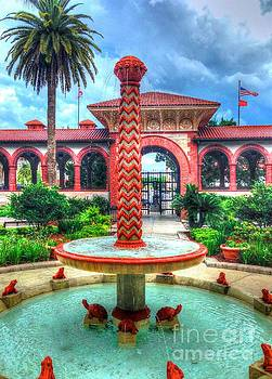 Flagler College Fountain by Debbi Granruth