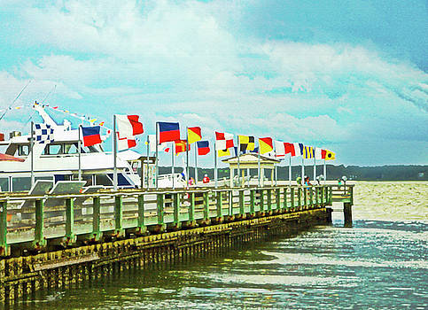 Flags at the Pier by Susan Leggett
