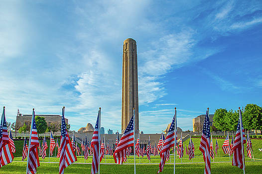 Flags Of Liberty Memorial by Steven Bateson
