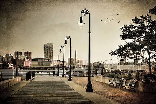 Flagship Wharf - Boston Harbor by Joann Vitali