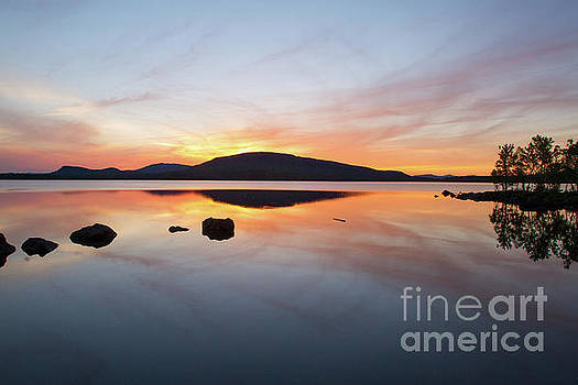 Flagstaff Lake Sunset by Denise Lilly