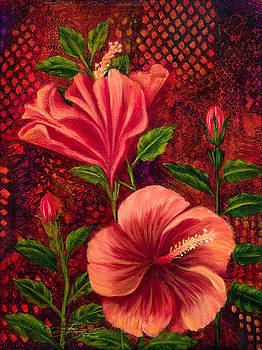 Flame Hibiscus by Lynn Lawson Pajunen