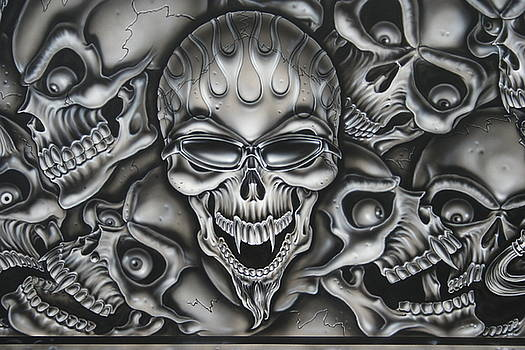 Flamed Skull by Terry Stephens