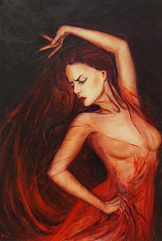 Flamenco dancer by Anna IOURENKOVA