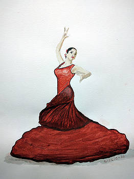Flamenco Dancer by Edwin Alverio