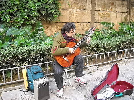 Flamenco Guitar Player by Ted Hebbler