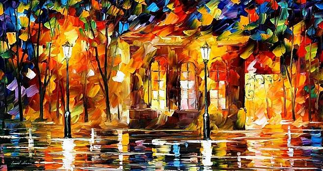 Flames Of Happiness - PALETTE KNIFE Oil Painting On Canvas By Leonid Afremov by Leonid Afremov