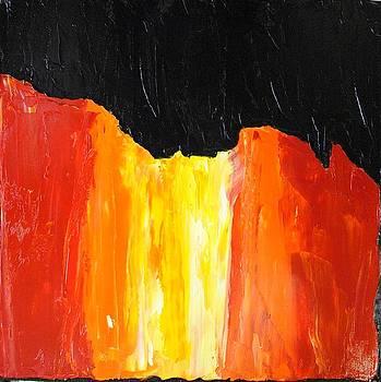 Flaming Falls by John Johnson