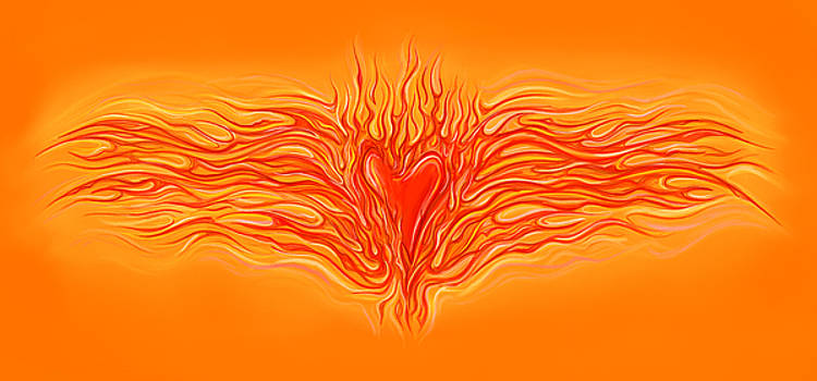 Flaming Heart by David Kyte