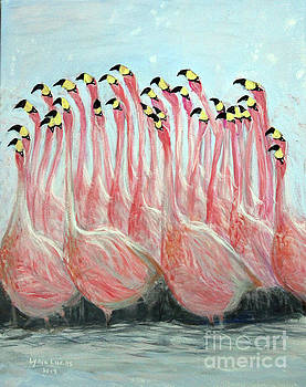 Flamingo Abstract Impressions by Lyric Lucas