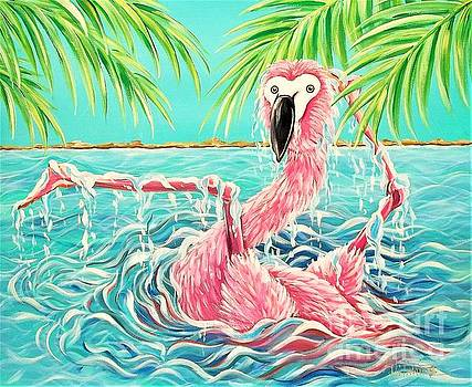 Flamingo Falling 2 by Renee Hilimire
