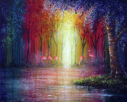 Flamingo Forest by Ann Marie Bone