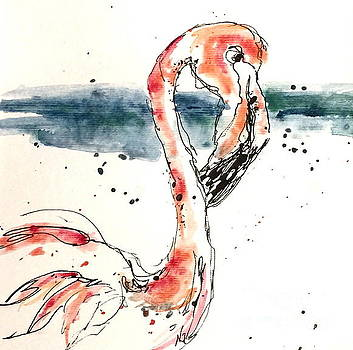 Flamingo Pool by Norma Gafford